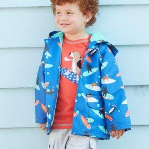 Hatley toddler blue raincoat, size 2. EUC